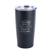 Christian Art Gifts, Jeremiah 29:11 Hope & Future Travel Mug, Stainless Steel, Navy, 18 ounces