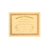 Berg, Completion Certificates, 8 x 10 inches, Set of 12