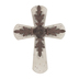 Shabby Chic Wood and Metal Hanging Wall Cross, MDF Wood, 18 x 24 inches