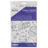 Renewing Faith, Easter Coloring Table Cover, Paper, 72 x 40 inches