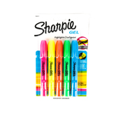 Sharpie, Gel Highlighters, Bullet Point, Assorted Colors, Pack of 5