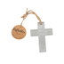 Roman, Inc., Cement Have Faith Cross Ornament, Cement, Grey, 4 x 3 x 1/4 inches
