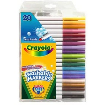Crayola Super Tip Fine Line Washable Markers 20/pk