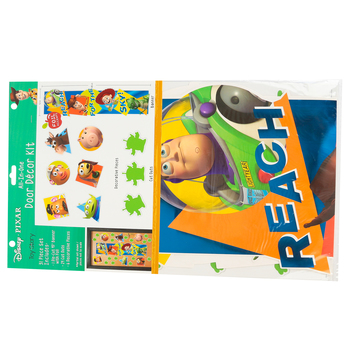 Eureka, Toy Story Reach For The Sky All-In-One Door Decor Kit, 31 Pieces