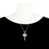 Faith in Bloom, 2 Peter 3:18 Grow Floral Pendant Necklace with Teardrop Earrings Set, Silver, 20 Inch Chain