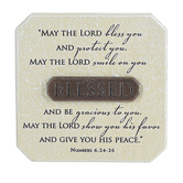 LCP Gifts, Numbers 6:24-26 May The Lord Bless You Tabletop Plaque, Cast Stone, 3 3/4 inches