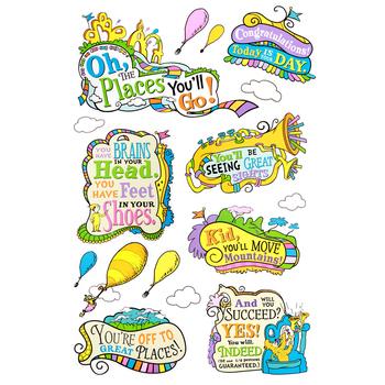 Eureka, Dr. Seuss Oh, the Places You'll Go! Bulletin Board Set, 27 Pieces