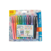 Paper Mate, Flair Felt Tip Markers, Medium Point, Assorted Tropical Colors, Pack of 12