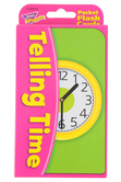 TREND enterprises, Inc., Telling Time Pocket Flash Cards, 56 Cards, 3 1/8 x 5 1/4 inches, Ages 6 and up