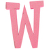 Glitter Foam Alphabet Letter Upper Case - W, 4 x 5.5 x .50 Inches, 1 Each, Assorted Colors