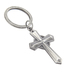 Dicksons, Serve Cross Key Chain, Zinc Alloy, Silver-tone, 2 1/2 inches