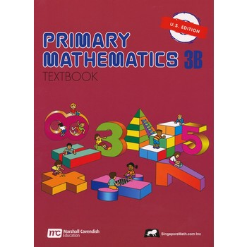 Singapore Math, Primary Math Textbook 3B, U.S. Edition, Paperback, 112 Pages, Grades 3-4