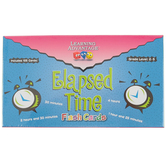 Learning Advantage, Elapsed Time Flash Cards, 105 Pieces, 3.25 x 6.25 Inches, Grades 2-5