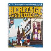BJU Press, Heritage Studies 2 Activity Manual Key, 3rd Edition, Grade 2