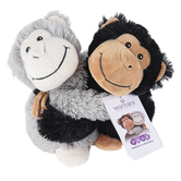 Warmies, Hugs Monkey Stuffed Animals, Plush, Black & Gray, 7 inches