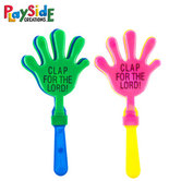 Playside Creations, Plastic Hand Clappers, 3.25 x 7 Inches, Assorted Colors, 6 Count