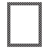 Isabella Collection, Customizable Blank Chart, 17 x 22 Inches, Black and White Lattice, 1 Each