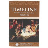 Memoria Press, Timeline Handbook, Teacher Guide, 85 Pages, Grades 3-7