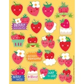 Eureka, Strawberry Scented Stickers, 1 x 1 Inch, Multi-Colored, Pack of 80
