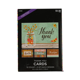 Brother Sister Design Studio, Rustic Whimsy Thank You Cards, 12 Cards with Envelopes