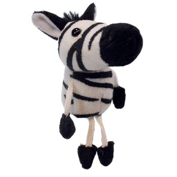 The Puppet Company, Zebra Finger Puppet, 5 x 2 x 2 inches