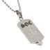 Spirit & Truth, 2 Timothy 2:3-4, Soldier of Christ Old English Shield Cross, Men's Necklace, Stainless Steel, 24 Inches
