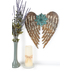 Flower Angel Wings Metal Wall Decor, Gold and Turquoise, 14 5/8 x 13 1/4 x 7/8 inches