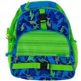 Stephen Joseph, Shark All Over Print Backpack, 12 x 6 1/2 x 16 inches