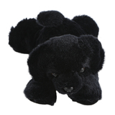 Aurora, Mini Flopsies, Blackie the Dog Stuffed Animal, 8 inches