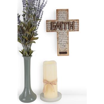 Matthew 6:8, 31-34 Hanging Wall Cross, Resin, 7 x 10 inches