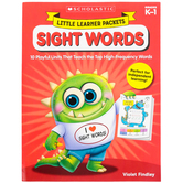 Scholastic, Little Learner Packets: Sight Words Activity Book, Reproducible, 96 Pages, Grades PreK-K