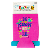 Playside Creations, God is Great Hydrate Bible Verse Can Holder, 3 Assorted Designs, 1 Each