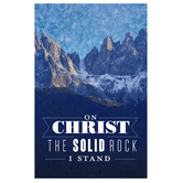 Salt & Light, On Christ The Solid Rock I Stand Church Bulletins, 8 1/2 x 11 inches Flat, 100 Count