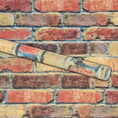 Renewing Minds, Bulletin Board Paper Roll, Aged Brick, 48 Inch x 12 Foot Roll, 1 Each