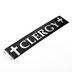 Swanson, Clergy Car Decal, Black & Chrome, 1 1/2 x 7 1/2 inches