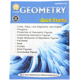 Carson-Dellosa, Geometry Quick Starts Workbook, 64 Pages, Grades 4 and up