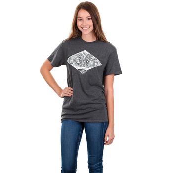Gardenfire, 1 John 4:19 We Love, Women's Short Sleeve T-shirt, Charcoal Heather, S-2XL