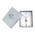 Modern Grace, Psalm 31:24 Strong Pendant with Heart and Tassel Necklace, Silver and Gold, 20 Inches