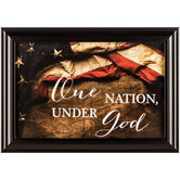One Nation Under God Framed Wall Art, 23 3/8 x 16 3/8 inches