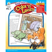 Carson-Dellosa, Bible Story Color 'n' Learn Activity Book, Reproducible, 176 Pages, Grades PK-1