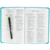 ESV Thinline Bible, Large Print, TruTone, Turquoise, Emblem Design