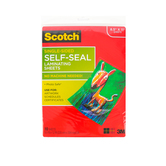 Scotch, Single-Sided, Self-Seal Laminating Sheets, 8.5 x 11, 10 Pack