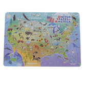 Outset Media, United States of America Map Puzzle, 13 3/4 x 9 3/4 inches, 35 Pieces, Ages 3 & Older