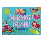 Peaceable Kingdom, Mermaid Island Cooperative Board Game, 11 Pieces, Ages 5 & Older, 2-6 Players