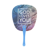 Living Grace, John 3:16 God Loves You Hand Fan, 6 3/4 x 11 1/4 inches