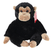 Aurora, Mini Flopsies, Clyde the Chimp Stuffed Animal, 8 inches