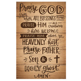 Salt & Light, Praise God Church Bulletins, 8 1/2 x 11 inches Flat, 100 Count