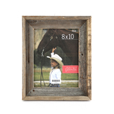 Green Tree Gallery, Reclaimed Natural Barn Wood Picture Frame, 8 x 10 inch photo