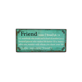 Definition of Friend Plaque, Turquoise, 4 1/2 x 10 inches