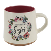 Christian Art Gifts, Ecclesiastes 4:9 Sister Coffee Mug, Ceramic, 14 ounces